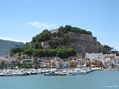 Denia, the harbour and Yacht Club