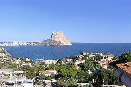 The Penon de Ifach in Calpe, seen from Olta
