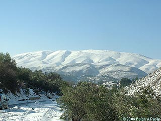 The Jalon Valley under the snow