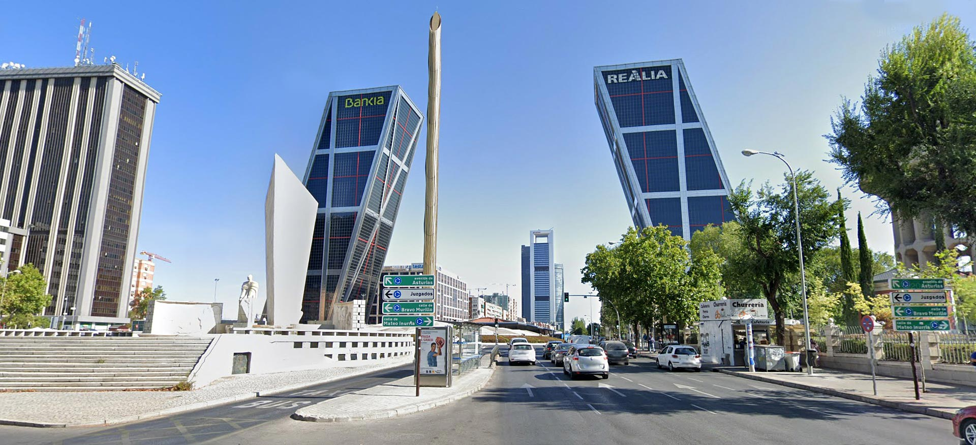 "The KIO or ""Puerta de Europa"" towers in Madrid"