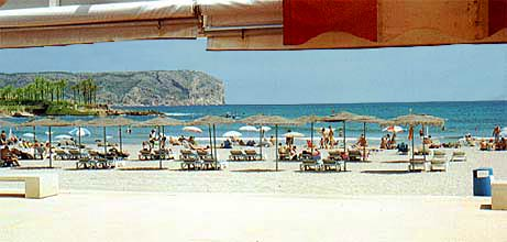 Javea: the Arenal beach on the Mediterranean Costa Blanca